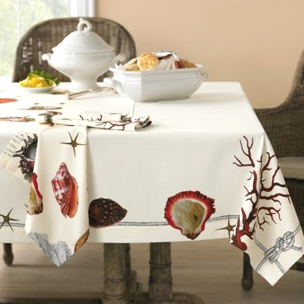 shell tablecloth