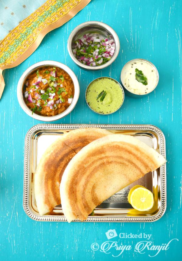 Pav Bhaji Masala Dosa Recipe