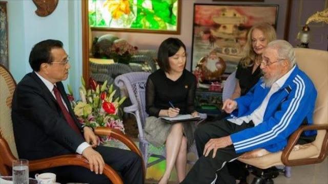 Fidel Castro mantiene fraternal encuentro con premier chino