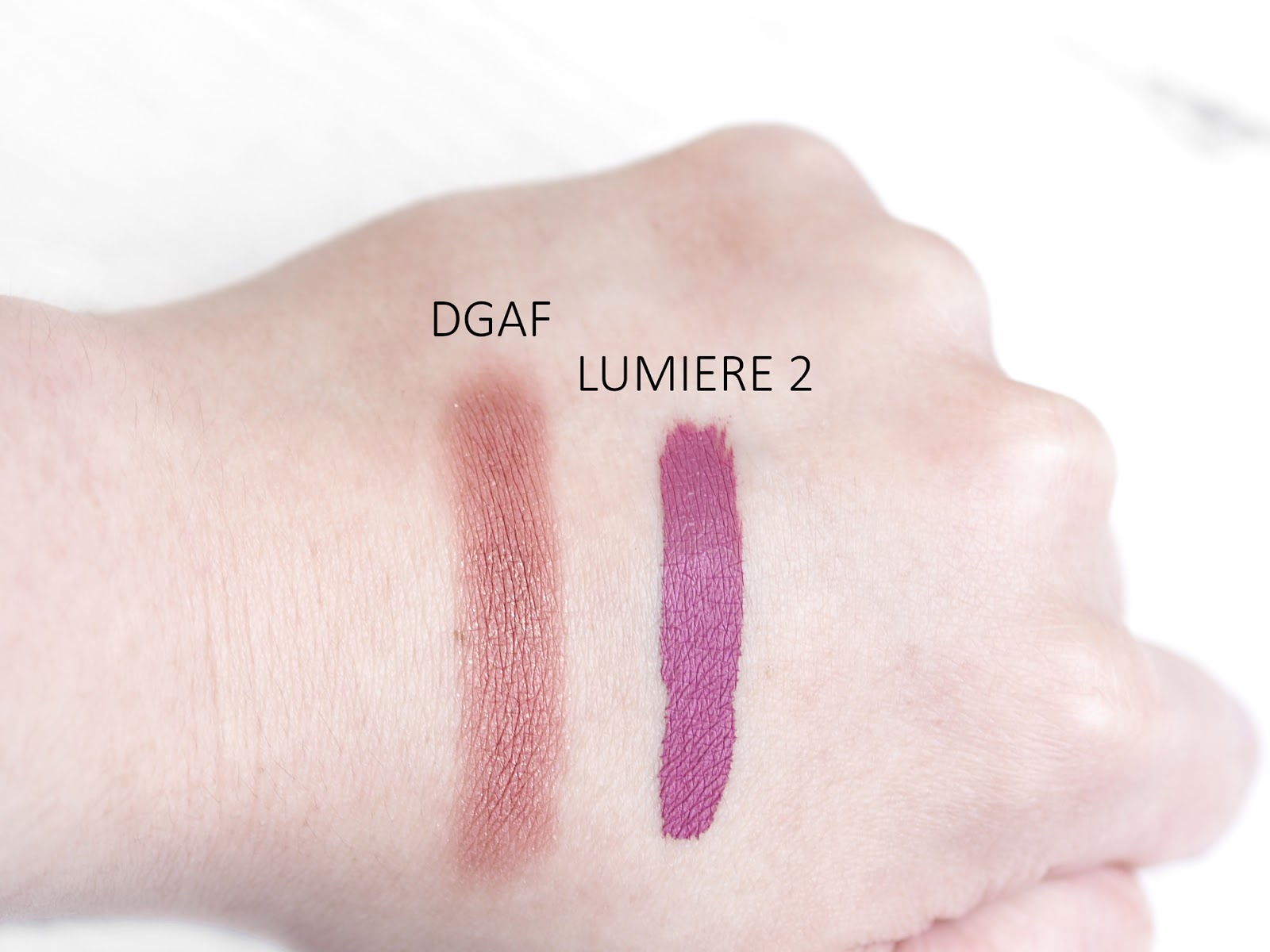 ColourPop Lumiere 2 DGAF Swatches