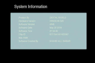 GX6605S HW203.00.029 HD RECEIVER CLINE OK NEW SOFTWARE