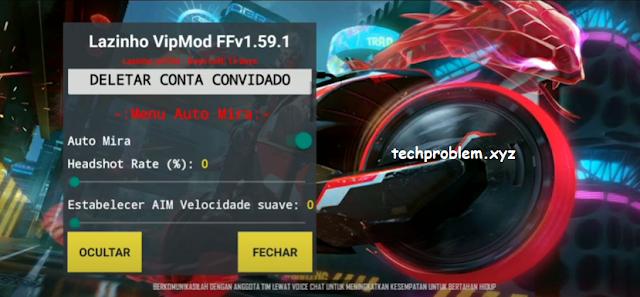 Free Fire Mod Menu Lazinho VipMod FF v1.59 All Device Auto Headshot