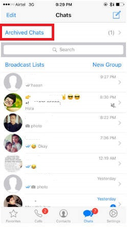 how to delete archived messages on whatsapp iphone 6