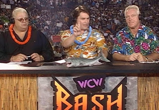 WCW Bash at the Beach 1997 - Dusty Rhodes, Tony Schiavone, Bobby 'The Brain' Heenan
