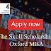 Skoll MBA Scholarship 2020/21   Study at Oxford's Business School
