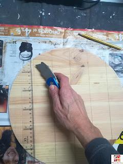 como hacer un reloj de madera