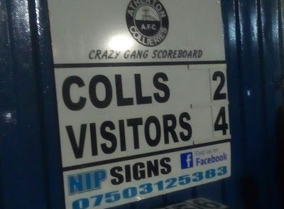 Atherton Colls 2 Warrington Town 4 - Scoreboard