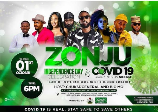 SHUTDOWN!!! Ex BBN Erica, Harrysong, Iyanya  Chuks D General, Others Storm Abuja For Zonju Independence Celebration and NCDC Covid19 Awareness concert