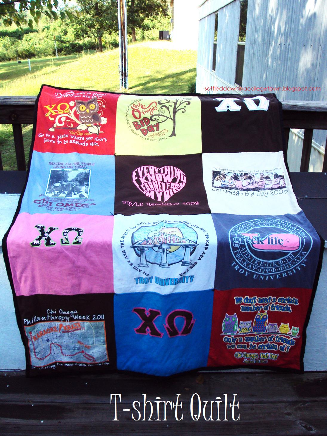Settled Down In A College Town T Shirt Quilts The