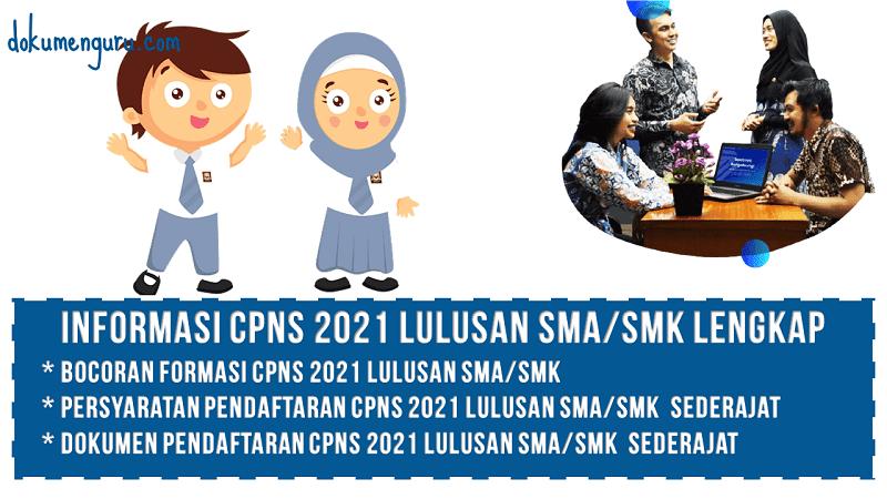 Formasi dan Persyaratan CPNS 2021 SMA Sederajat
