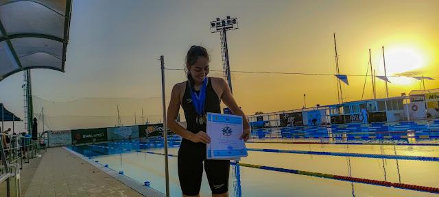 """Επιτυχίες από την αθλήτρια του Κολυμβητικού Ομίλου Ναυπλίου """"Εύρος"""" Δέσποινα Καλκανάκου"""
