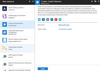 Adding Custom Script Extension In Azure Virtual Machine