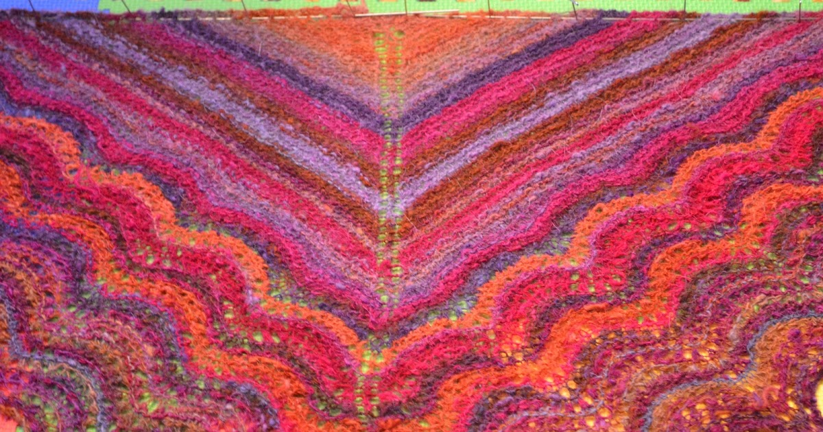 spinsjal: Old Shale Lace Shawl