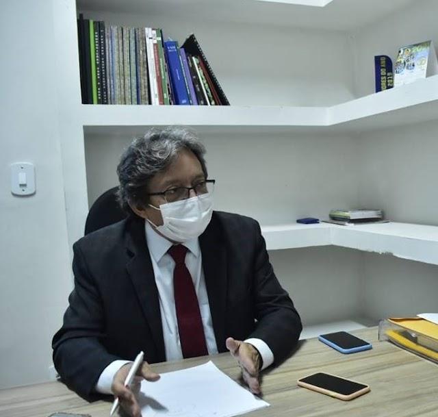 Vice-presidente da Câmara, Dr. Gutemberg, faz apelo para população usar máscaras e evitar aglomeração