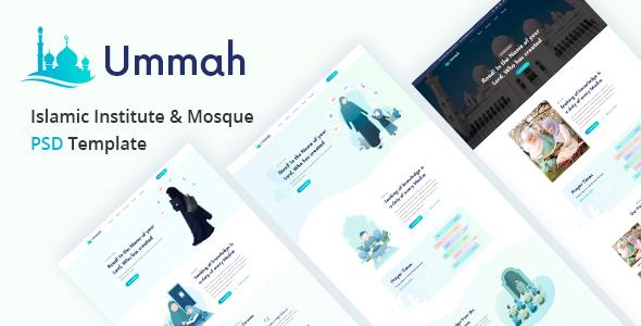 Best Islamic Institute & Mosque PSD Template