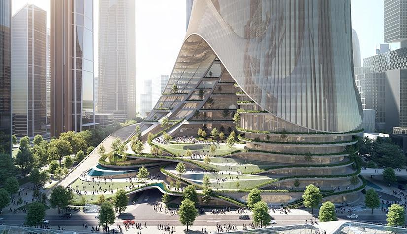 Ultra fütürist kule 300 bin kişiye ev sahipliği yapacak