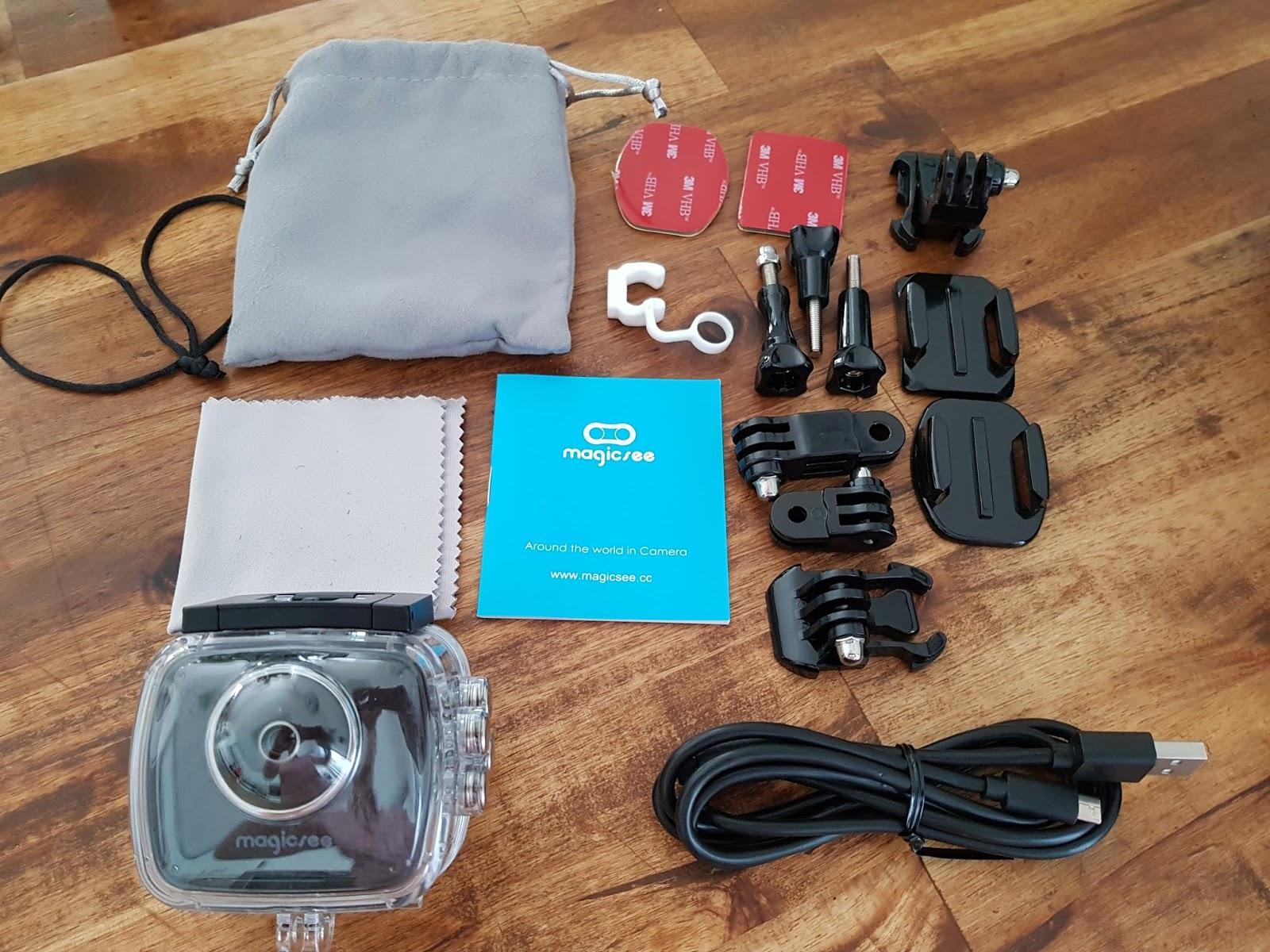Ladekabel Aufbewahrung der tester magicsee p3 vr360 4k panoramakamera