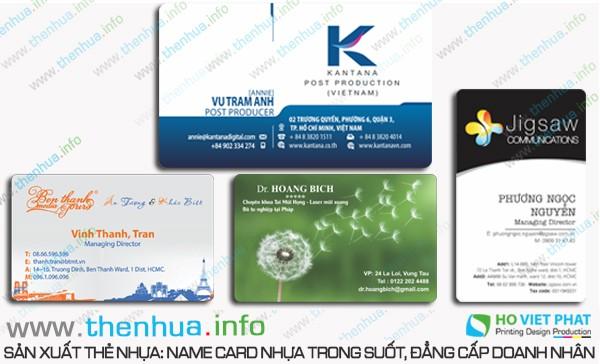 In name card nhựa trong suốt giá rẻ