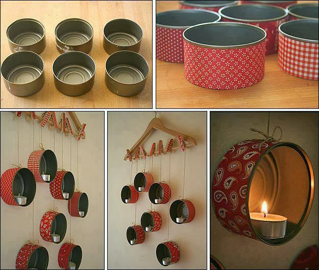 Ideas para Decorar Interiores con Latas Recicladas