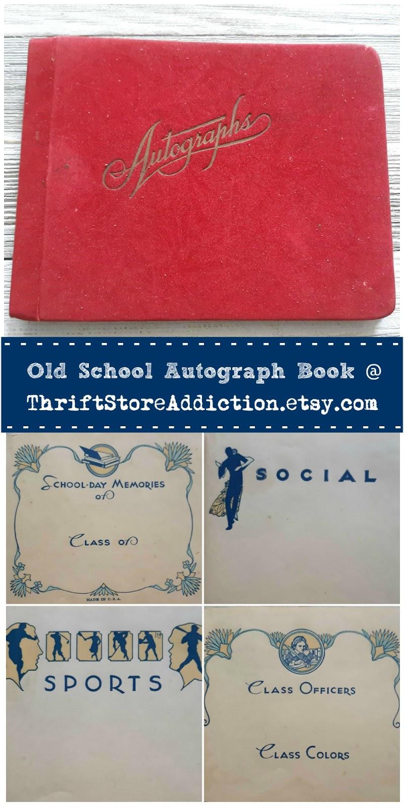 vintage autograph book