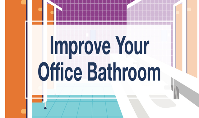 Transform your office bathroom #infographi
