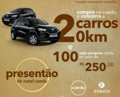 Natal 2020 Caedu Presentão de Natal Vales Compras Caedu e Carros