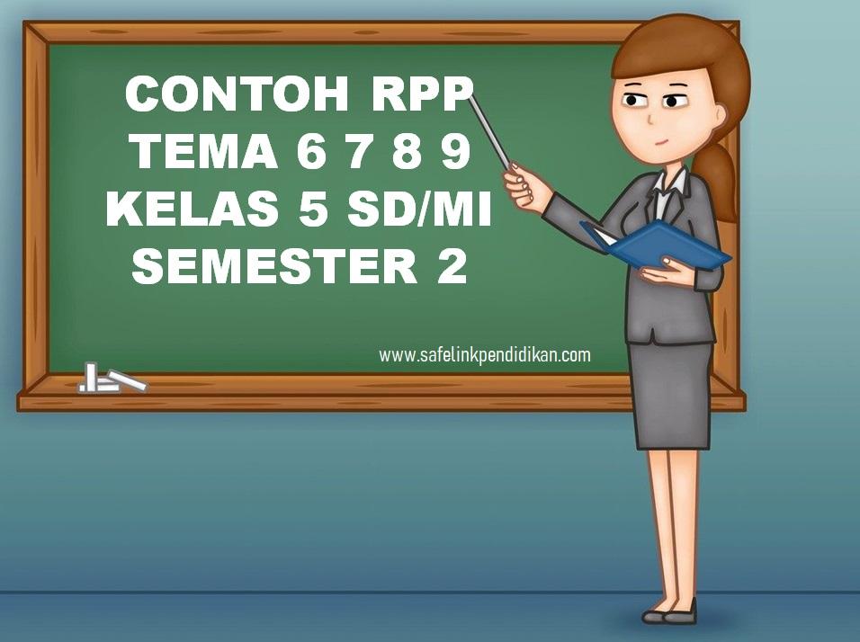 Contoh RPP Daring Tema 6 7 8 9 Kelas 5 SD/MI
