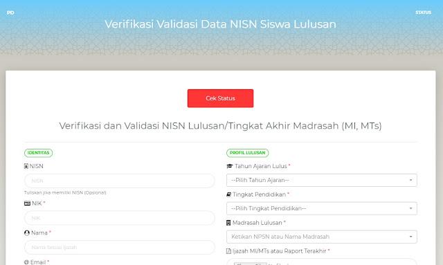 Fitur Verval NISN untuk Siswa Madrasah