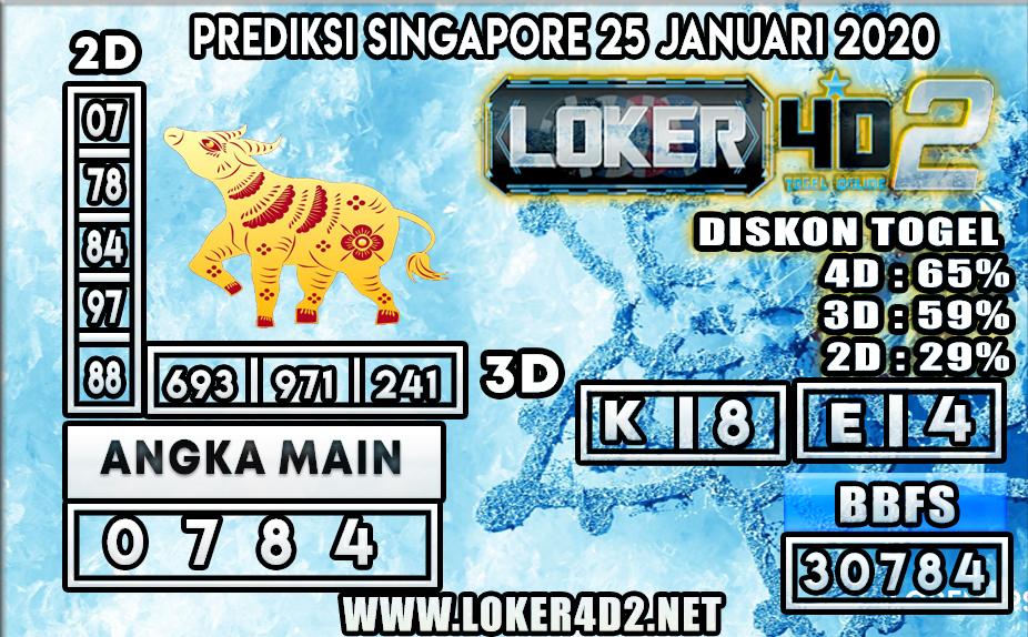 PREDIKSI TOGEL SINGAPORE LOKER4D2 25 JANUARI 2020