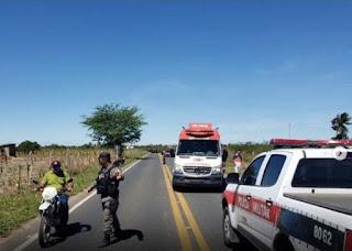 Ciclista de Jaçanã sofre acidente e é socorrido para o Hospital de Trauma em CG