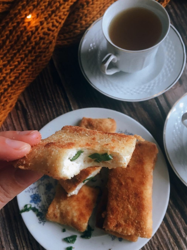 Galotyri (Greek Cheese) French Toast Roll-ups: A quick and easy but so delicious recipe for breakfast - Ioanna's Notebook