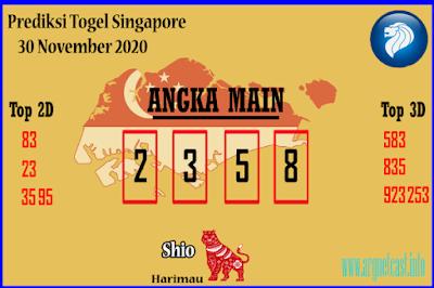 Angka Main Togel SGP 30 November 2020