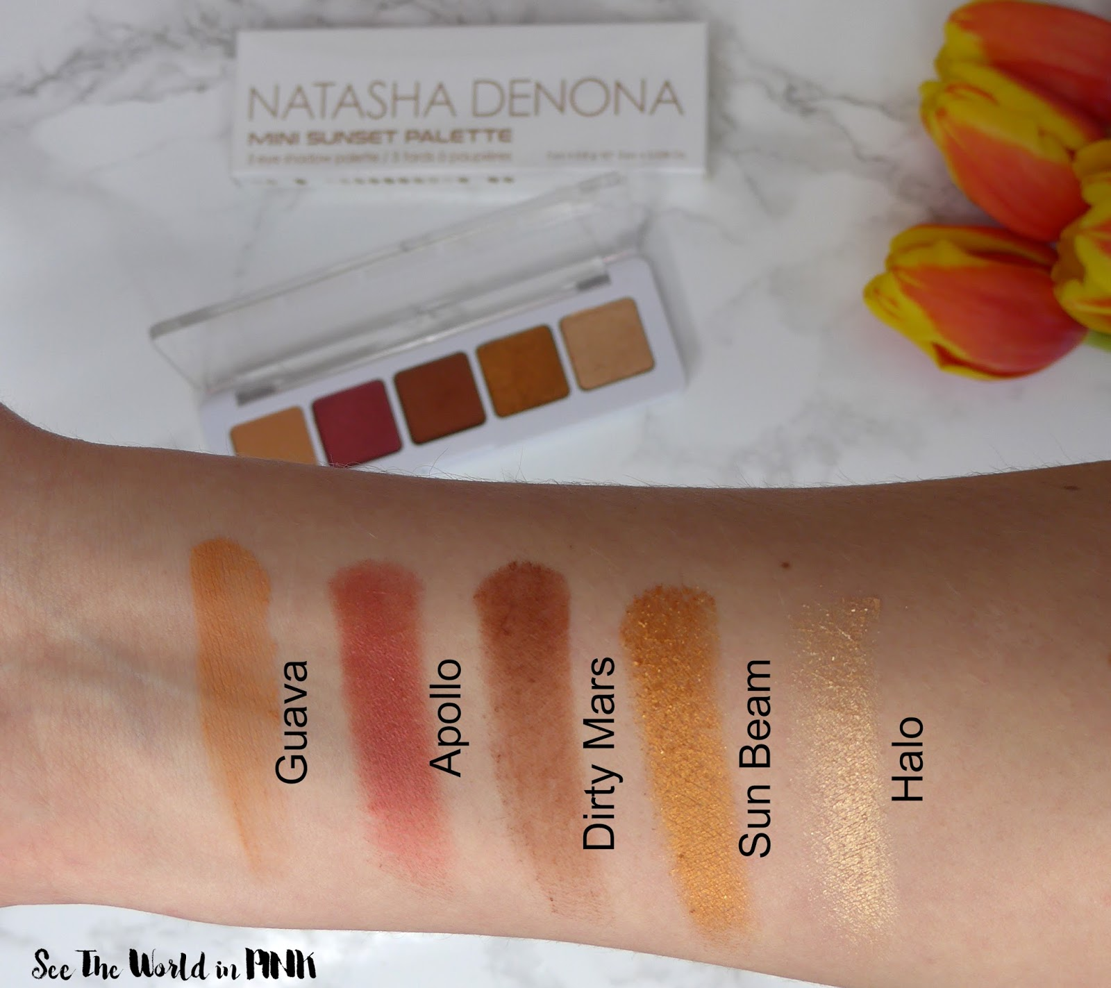 Natasha Denona Mini Sunset Eyeshadow Palette - Swatches, Makeup Look and Review!