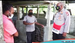 Tim Humas Polri Tinjau Peternakan Binaan Binmas Noken Polri di Mimika
