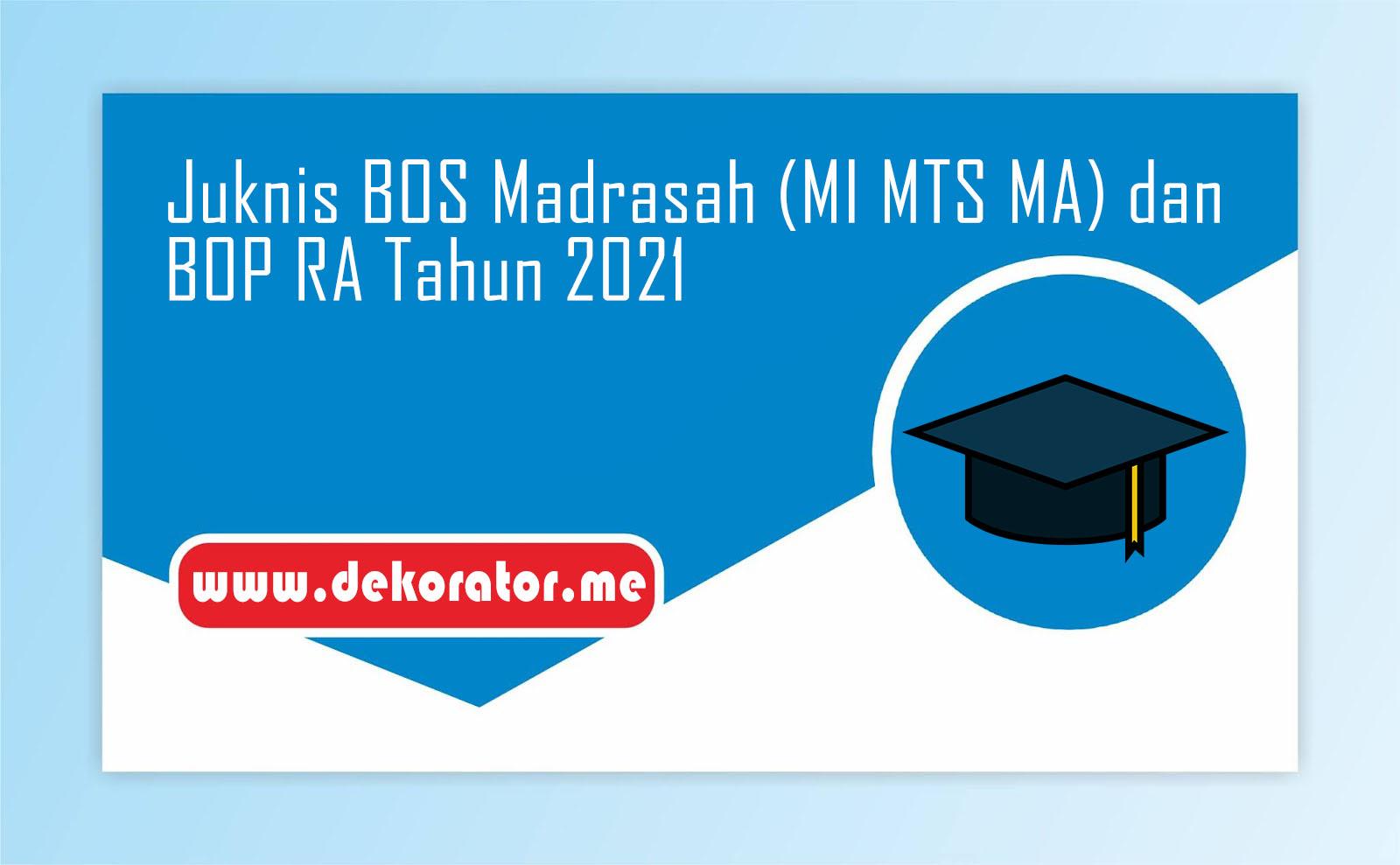 Juknis BOS Madrasah (MI MTS MA) Dan BOP RA Tahun 2021