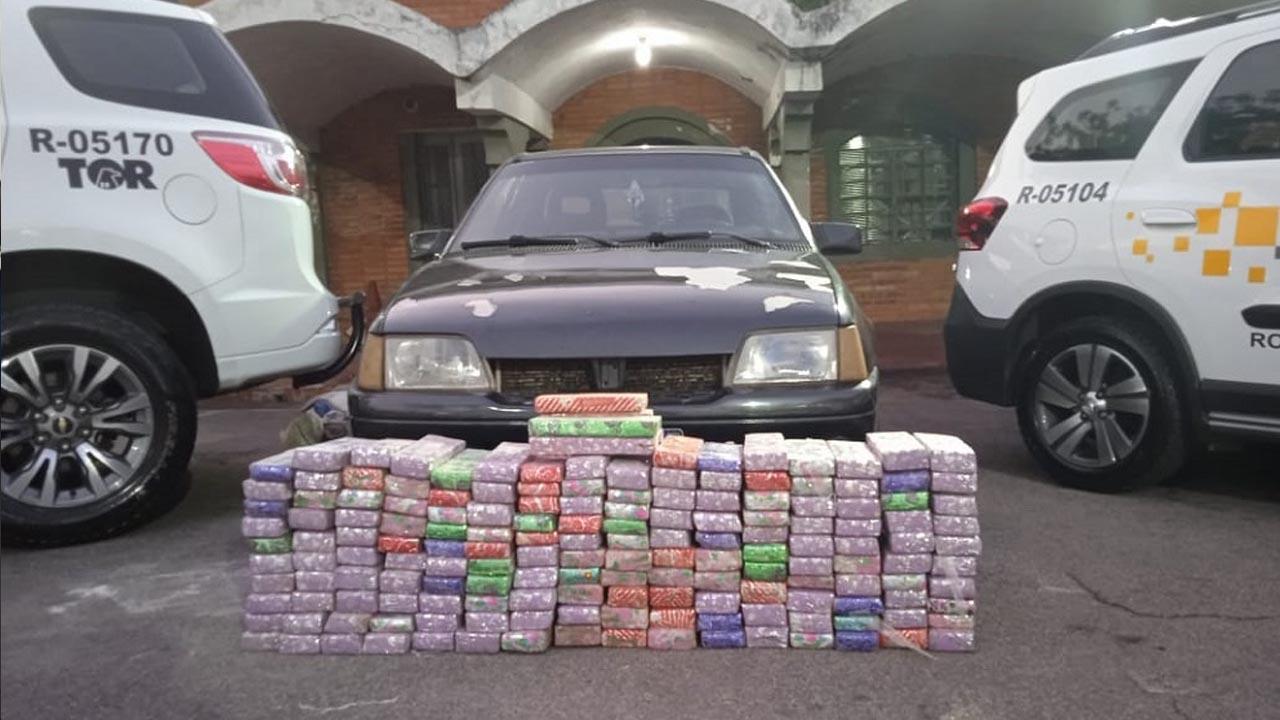 Polícia Rodoviária apreende 165 tabletes de maconha em Itu