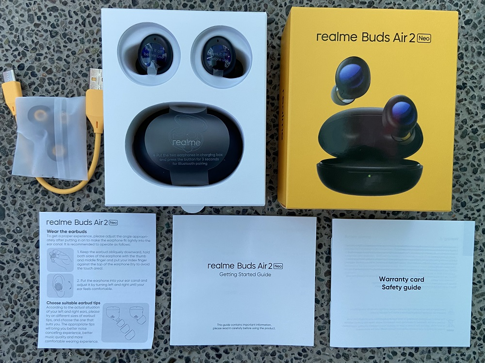 realme Buds Air 2 Neo - All Contents