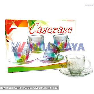 OTH - CANGKIR SET/ CUP & SAUCER CASERASE (12 PCS)