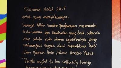 Dari Balik Jeruji Besi Marko Brimob, Ahok Ucapkan Selamat Natal dan Tahun Baru