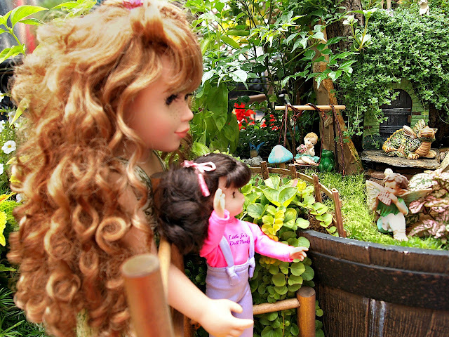 fairy, garden, raised container gardens, dolls