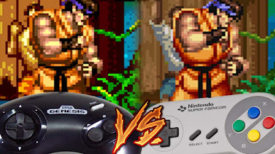 Mega Drive Vs SNES - Street Fighter II