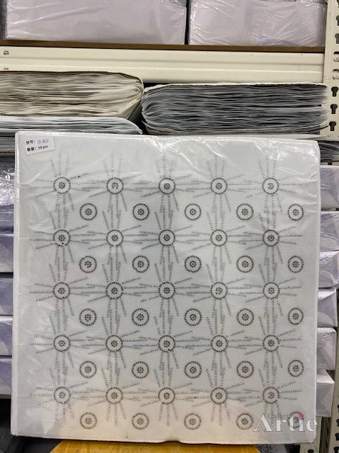 Hotfix stickers dmc rhinestone aplikasi tudung bawal fabrik pakaian bulatan 3 line hitam silver