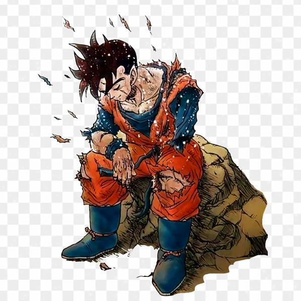 Ilustración Goku Triste PNG transparente