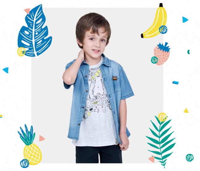 Ropa de moda primavera verano 2018 para niños.