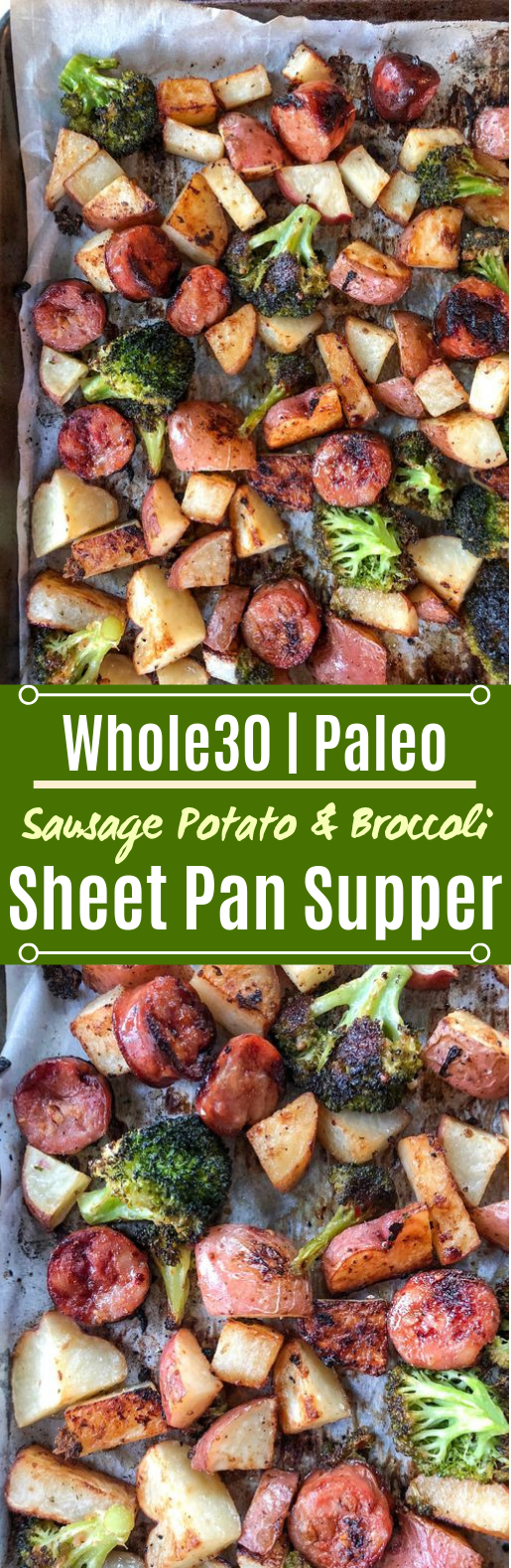 Sausage, Potato & Broccoli Sheet Pan Supper #healthy #glutenfree