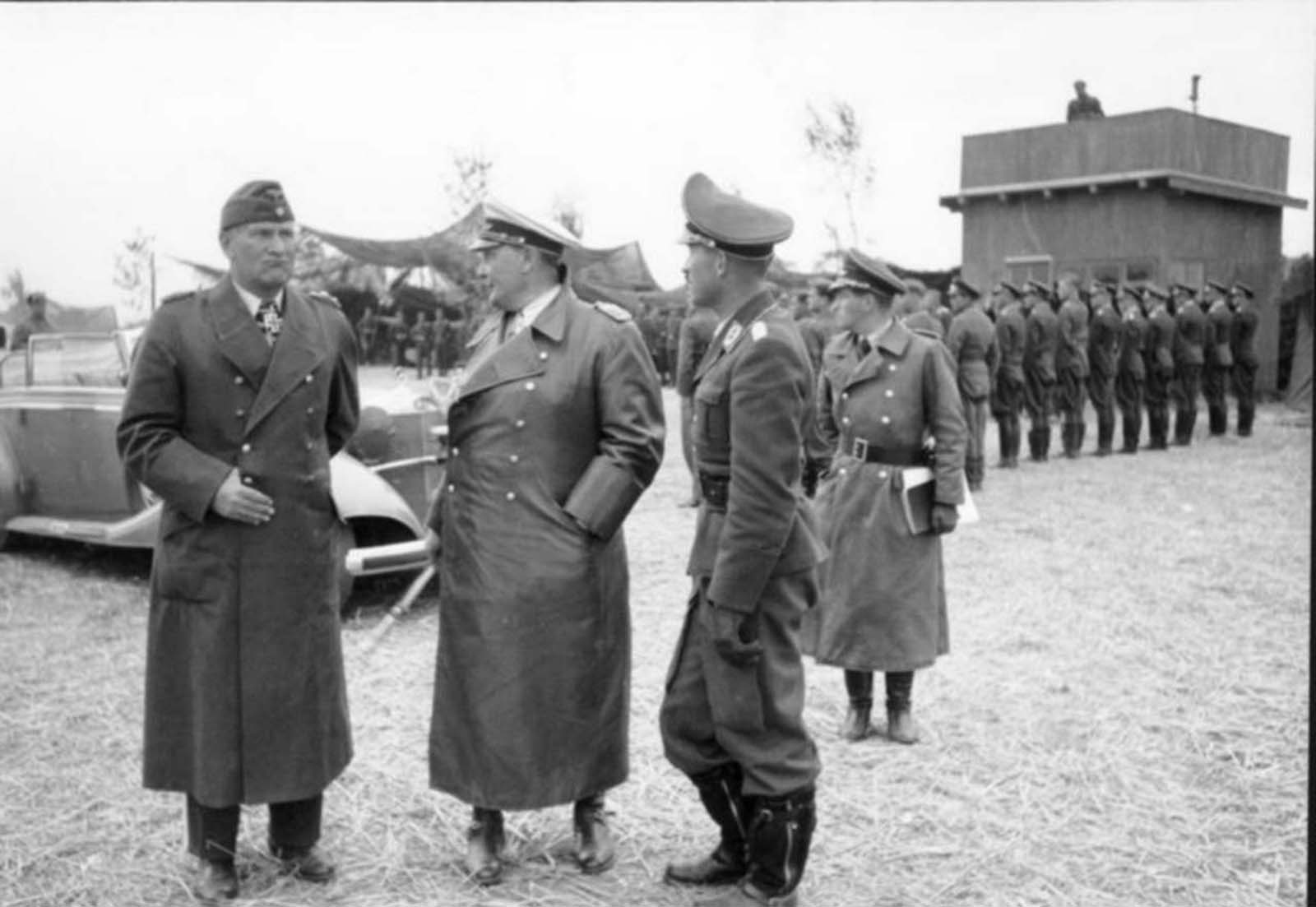 The Reichsmarschall with Galland (right) during an inspection tour in France during the Battle of Britain. Galland was one of the very few guys who could act normally and make sarcastic remarks to the fat man -