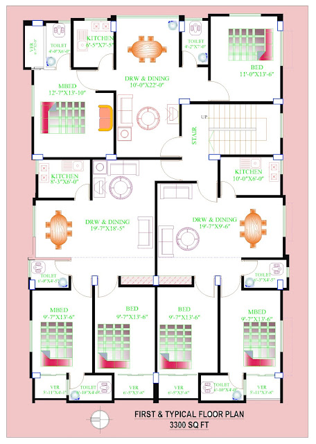 residential building floor plan