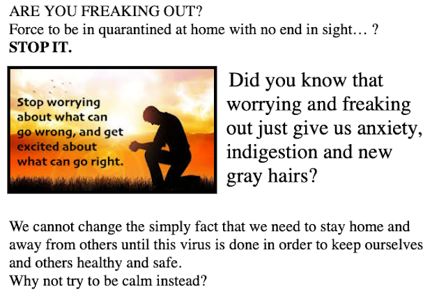 Are you freaking out at home? Here are some ideas to make social distancing bearable
