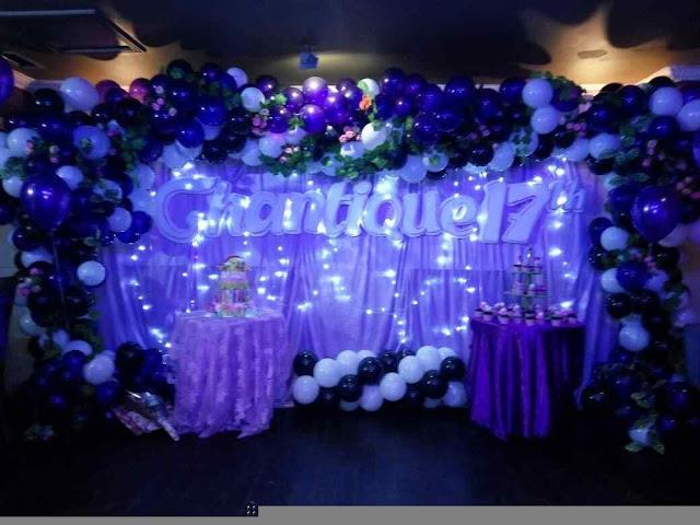 dekorasi balon ulang tahun ke 17 sweet seventeen