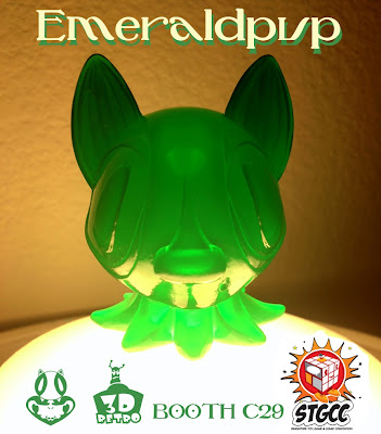"Singapore Toy, Game and Comic Convention Exclusive ""Emeraldpup"" Octopup Vinyl Figure by Nathan Hamill"